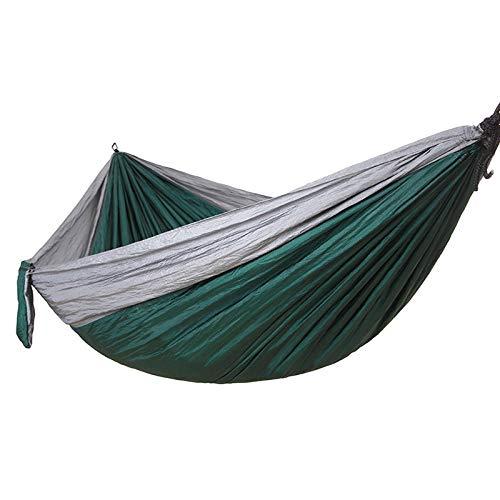 pomelogreem Tragbare mit Tragetasche,Fallschirm-Stoffhängematte, Outdoor-Camping-Schaukel @ Grau und dunkelgrün,Hängematte Outdoor Ultraleicht