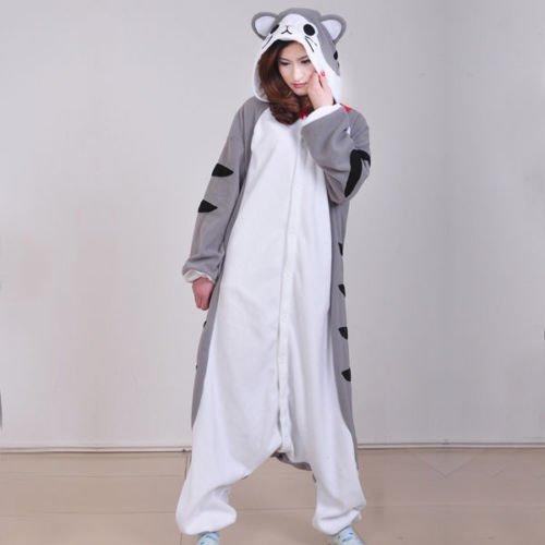 Imagen de adulto unisexo cheshire cat gato negro gato de queso doremon totoro onesie fiesta disfraz de kigurumi con capucha pijama sudadera ropa para dormir regalo de navidad gato de queso, s height 150cm 160cm