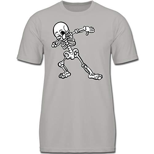 Anlässe Kinder - Dabbing Skelett - 104 (3-4 Jahre) - Hellgrau - F130K - Jungen Kinder T-Shirt
