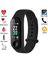 Xotak Heart Rate Monitor Bluetooth Health Fitness Tracker And More, Smart Band For Smartphones - Black - B07KJKZLKY