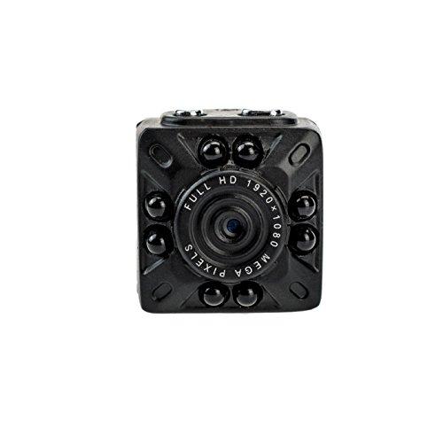 KOBERT GOODS - Full HD Mini-DV-Kamera K100 - Spy-Cam 1080-P für Video- und Fotoaufnahmen inkl. Ton - Kleine, Tragbare Überwachungskamera mit Bewegungserkennung & Infrarot-Nachtsicht (inkl. Halter)