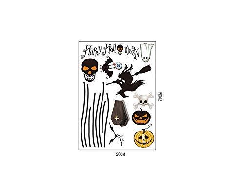 XINAINI Zuhause Wandtattoo,Schädelhorror der schwarzen Katze des Kürbisgeistes Wandbild,für Aufkleber-Wand Dekor für Wohnzimmer, Garderobe, Flur, (Günstige Schneewittchen Kostüm)