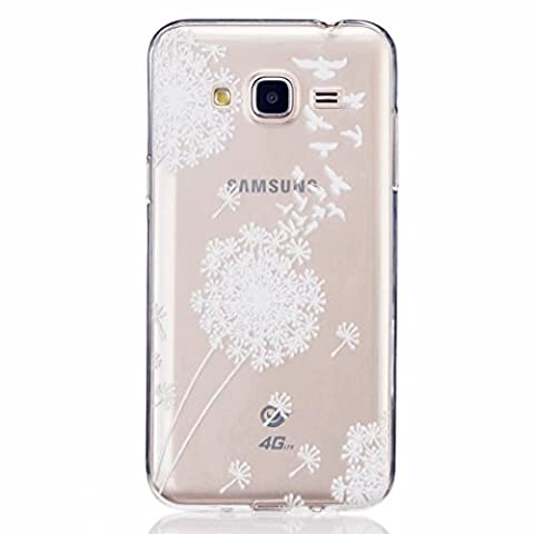 Embrasse Anneaux Pompon - MOTOUREN Housse Pour Samsung Galaxy J3 Coque