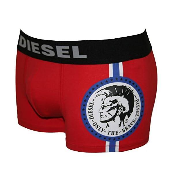 Diesel Mohawk Logotipo Bóxer Masculino Bóxer Tronco, Rojo