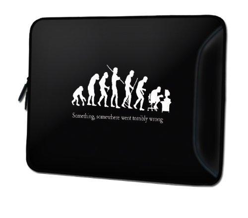 """Sidorenko DesignerLaptoptasche mit Zusatzfach für Maus und Ladegerät an der Vorderseite der Notebooktasche // Größe 34,0 cm von 13"""" bis 13,3"""" Zoll Neopren Schutzhülle"""