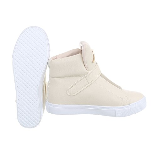 Ital-Design Sneaker Donna, Multicolore (Nero/Multicolore), 36