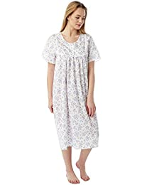 f637fc56a4 Undercover Ladies Marlon Poly Cotton Short Sleeve Nightdress Nightie MN11  Size 10-30