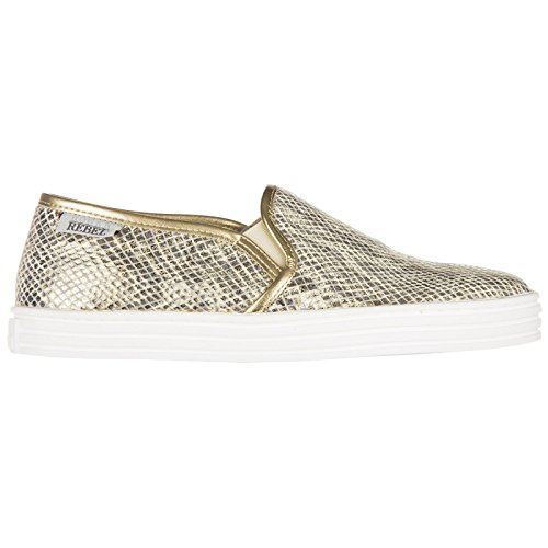 Hogan Rebel Scarpe Slip on r141 Donna Oro 36 EU