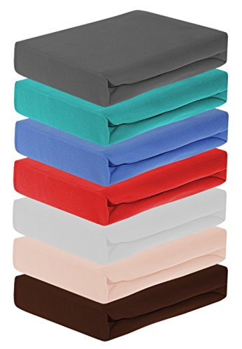 Home-Impression Winter Thermo Soft Fleece Spannbettlaken, Spannbetttücher aus Microfaser Fleece, Laken Betttuch, Grösse 100x200cm, Farbe: