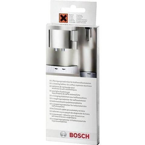 Bosch TCZ6001 - Pastillas limpiadoras para cafeteras TCA 5, TCA 6, TCA 7, TCC 7 y TES 70 (10 uds.)