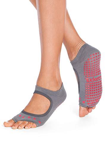 Tucketts Yoga Socken für Frauen – rutschfeste Haftsocken ohne Zehen – Stoppersocken (Damen) – Pilates Socken Geeignet für Pilates – Barre – Ballett