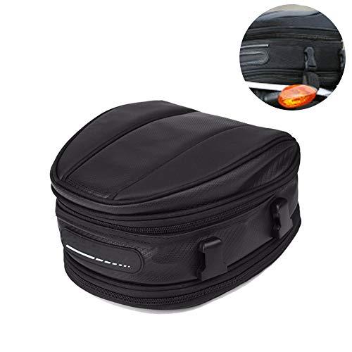 1 Motorrad Tanktasche Wasserdicht Oxford Rücksitztasche Universal Rücksitztasche Umhängetasche Hecktasche Satteltasche Reisetasche für Motorrad Motorrad Motorrad, schwarz