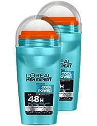 L'Oréal Men Expert Cool Power Déodorant Bille Homme Lot de 2