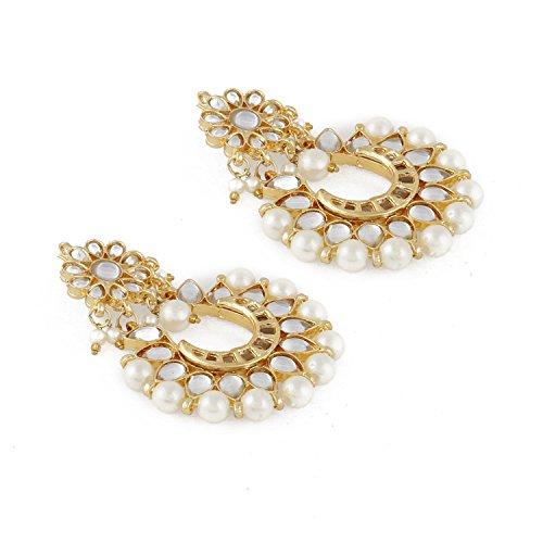 8eea3312f Aradhya Stylish Traditional Pearl Kundan Chandbalis Earrings For Women &  Girls