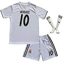 6e7e1296ab6 BTA APPAREL 2018 2019 Real Madrid  10 Luka Modric Heim Kinder Fußball Trikot  Hose