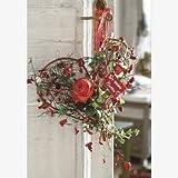 Glückwunschkarte Rosenherz an Türklinke Für meine Mama! rote Rosen Türschmuck