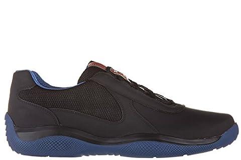Prada chaussures baskets sneakers homme en cuir nevada rubber bike