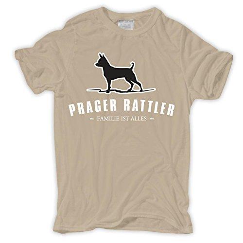 Männer und Herren T-Shirt Prager Rattler - Familie ist alles Größe S - 8XL Sand