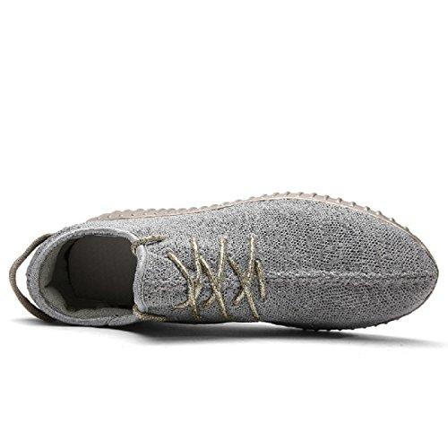 Uomo scarpe per il tempo libero traspirante Leggero Piatto Casa Scarpe casual scarpe basse Grey