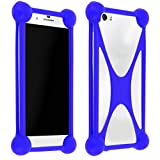 Mocca - Bumper Silicone Antichoc Universel Smartphone - Bleu