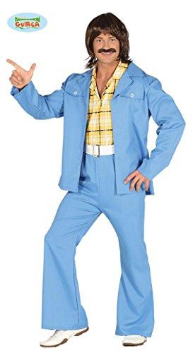 oovy Dancer Disco Kostüm für Herren Tänzer Jeansanzug Anzug Gr. M/L, Größe:M (Herren Groovy Dancer Kostüm)
