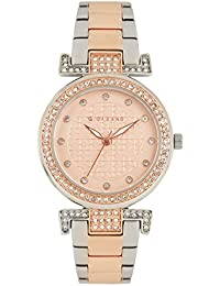 Giordano Women's Rose Gold Dial Two Tone Rose Gold Metal Strap Watch, Model No. A2057-88