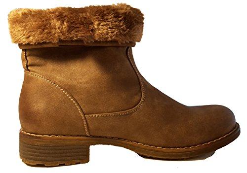 Stivali invernali, scarpe da donna, modello 1307400112002133, nero e marrone, modelli e numeri differenti. Marrone modello B.