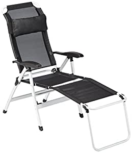 10t easychair xxl alu campingstuhl mit fu ablage gartenstuhl mit luftdurchl ssigem sitz bezug. Black Bedroom Furniture Sets. Home Design Ideas