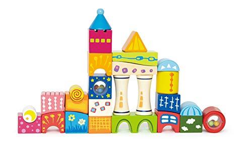 Hape International E0418 Fantasiebausteine Schloss, Bunte Bauklötze, Entdeckersteine, 26teilig