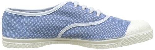 Bensimon Damen Tennis Lacet Pois Denim Flach Bleu (Bleu)