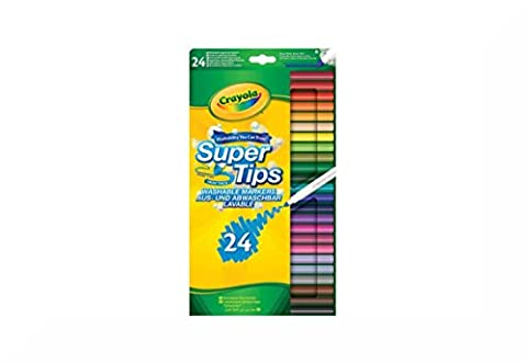 Crayola Supertips Schaumstoff Marker 24S Aufhängen Packung & inspirierende Magnet (Polster Hefter)