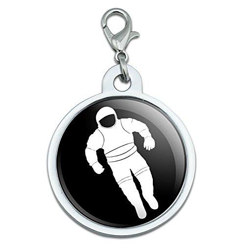 Astronaut, Raumanzug groß, chrom vergoldet Metall Pet Dog Cat ID (Raumanzug Astronaut)