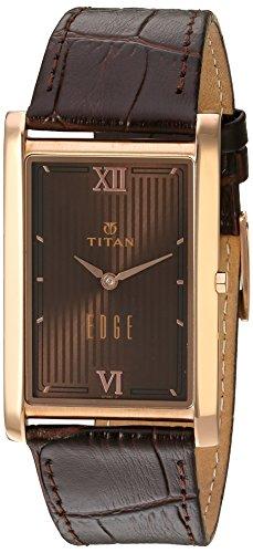 41mwcVCrGpL - Titan 1598WL02 Edge Brown Mens watch