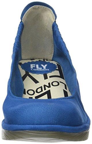 Fly London Pled819fly, Scarpe Col Tacco Punta Chiusa Donna Blu (Electric Blue)