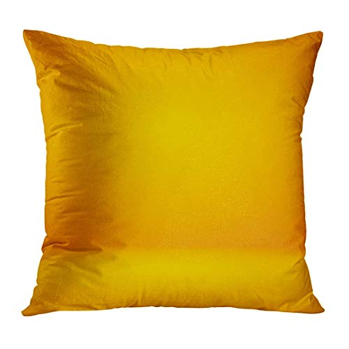 (Zengyan Throw Pillow Cover Groovy Abstract Luxury Mix Yellow Orange Amber Gradient for Display Product AD Blur Decorative Pillow Case Home Decor Square 18