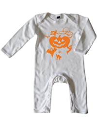 Mikalino Baby Schlafanzug Halloween orange print