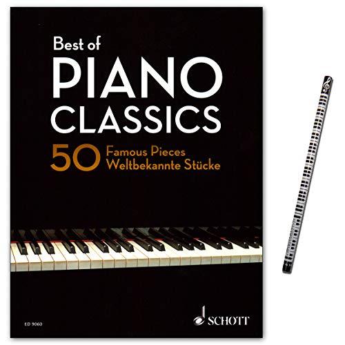 Sammlung 50 (Best of Piano Classics - 50 Famous Pieces for Piano - Sammlung der 50 schönsten Originalkompositionen für Klavier mit Piano-Bleistift - ED9060-9790001191128)