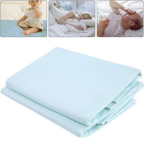 Bett Underpad, 2Pcs waschbare wiederverwendbare Inkontinenz-Bett-Auflagen mit starker Saugfähigkeit für Inkontinenz-ältere Erwachsene-Baby-Frauen