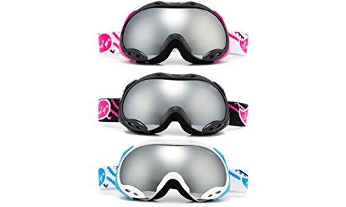 Cloud 9 Goggles Herren 9 Wolke - wos Schneebrille ultra Komfort Anti-Fog-Ski Snowboard Brille UV-Schutz G07 Blau/weiß