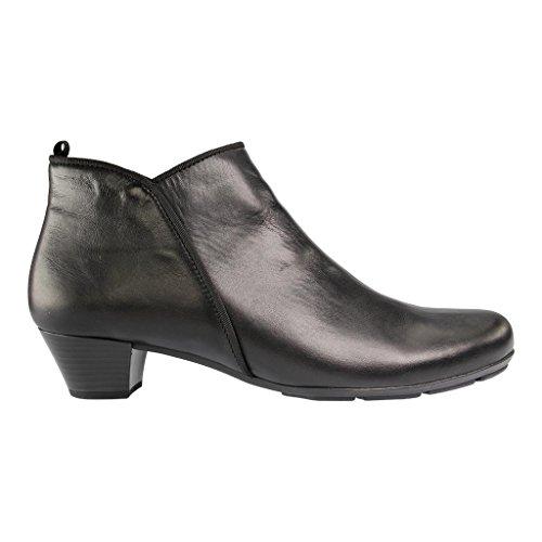 GABOR - 75.633 - Damen Kurzschaft Stiefel - Schwarz Schuhe in Übergrößen Schwarz