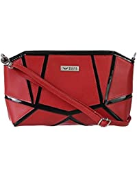 Bern Red And Black Color Casual Sling Bag For Women