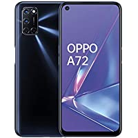 OPPO A72 Smartphone , Display 6.5'' LCD, 4, Fotocamere,128GB Espandibili, RAM 4GB, Batteria 5000mAh, Dual Sim, 2020 [Versione italiana], Nero (Twilight Black)