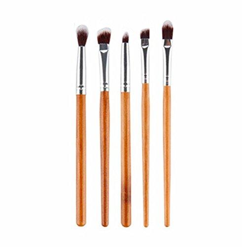 Incendemme 5pcs Augenpinsel Pinselset Schminkpinsel Kosmetikpinsel Bambus Pinsel Make Up Tool (Kabuki Karneval Kostüm)