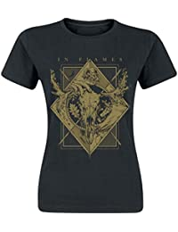In Flames Night Square Camiseta Negro