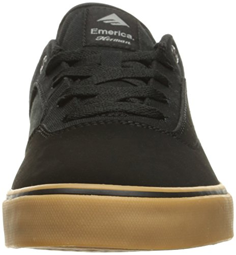 Emerica The Herman G6 Vulc, Chaussures de skateboard homme Noir (Black Black Gum 544)