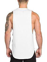 98ff7c28a584 FRAUIT Canottiera Uomo Intimo Cotone Canotta Uomini Bodybuilding T Shirt  Palestra Maglia Termica Running Maglietta Manica