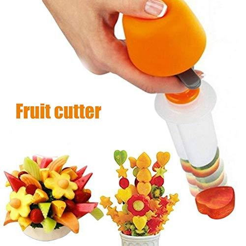 Grizack Obst Gemüse Formschneider Dekorieren Tools Kreis Herz Blumenschneider Obstschneider auswerfen Fruit Decorator