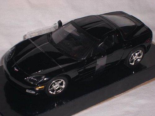 Chevrolet Corvette C6 C 6 Schwarz Black Coupe 1/24 Motormax Motor Max Modellauto Modell Auto