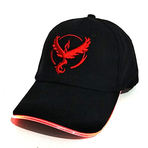 Imagen de dlopn baseball cap 100% algodón bolsillo monstruo luminoso sombrero para mujer hombres dibujos animados bordado hip hop cap pokemon go  de béisbol