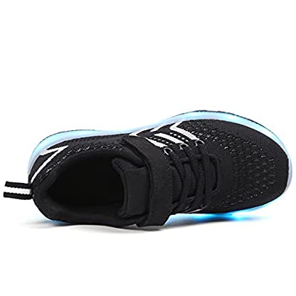 Axcer LED Light Up Trainers 7 Colors Flashing USB Charge Mesh Breathable Sport Running Shoes Gymnastic Tennis Sneakers Best Gift for Boys and Girls Birthday 3